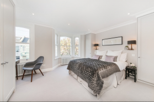 Refurbished Master Bedroom with Luxury Bedding