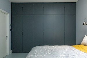 Fitted wardrobes as part of a basement conversion in Battersea.